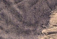 Beschaffenheit des Jeanstextilabschlusses oben Jeans-Denim-Hintergrund Lizenzfreies Stockfoto
