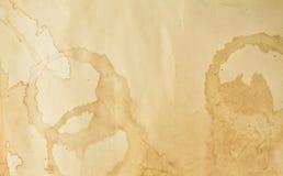 Beschaffenheit des Kaffee befleckten Papiers Stockbild