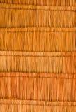 Beschaffenheit des klassischen Thatchdachs von innen konkurrieren Lizenzfreies Stockbild