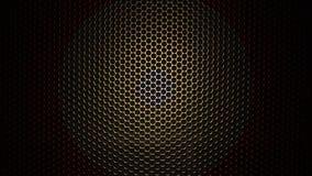 Beschaffenheit des Kohlenstoff-Kevlar-Fasermaterials Musikvektor mit Mann Abstrakte Kohlenstoffbeschichtung lizenzfreie abbildung