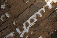 Beschaffenheit des Lehms und des Holzes lizenzfreies stockfoto