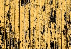Beschaffenheit des realistischen gelben alten gemalten Bretterzauns stock abbildung