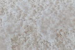 Beschaffenheit des rohen Salzes vom natürlichen Meerwasser in der Verdampfung staut stockbilder