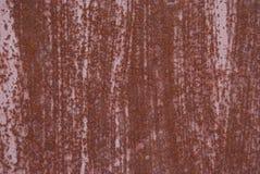 Beschaffenheit des rostigen Metalls Schöner gestreifter natürlicher Rost Stockbilder