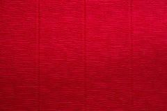 Beschaffenheit des Rot geknitterten Papiers Stockbild