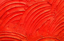 Beschaffenheit des rote Farbzementes oder -gipses für Hintergrund- und Designkunstwerk, Schmutzbetonmauermuster Stockfotografie