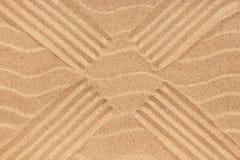 Beschaffenheit des Sandes mit vier Linien Lizenzfreie Stockbilder