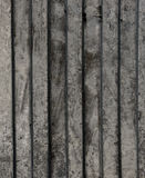 Beschaffenheit des schmutzigen Welle-förmigen Stahlblechs Stockfoto