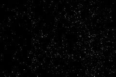 Beschaffenheit des Schnees oder des sternenklaren Himmels lokalisiert auf schwarzem Hintergrund lizenzfreies stockfoto