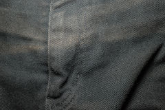 Beschaffenheit des schwarzen Baumwollstoffs Lizenzfreie Stockfotografie
