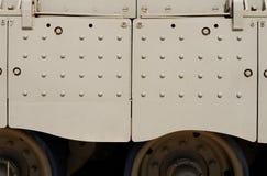 Beschaffenheit des Seitenrockes des Behälters Israeli Merkava-Kennzeichens III Lizenzfreies Stockbild