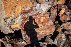 Beschaffenheit des Steins Stockbild