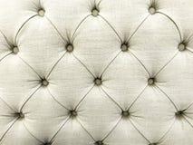 Beschaffenheit des weißen Gewebe-Sofas Stockbilder