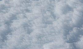 Beschaffenheit des weißen Schnees Stockbild