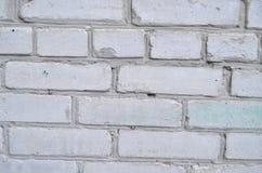 Beschaffenheit des weißen Ziegelsteines Stockfoto