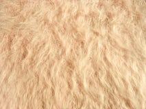 Beschaffenheit des weichen beige fleecy Gewebes lizenzfreie stockbilder