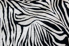 Beschaffenheit des Zebraartgewebes Stockfotografie