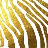 Beschaffenheit des Zebrahautgoldes Lizenzfreies Stockfoto