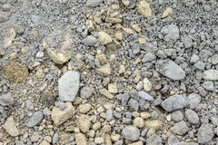 Beschaffenheit des Zementes mit Kies Stockfoto