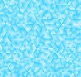 Beschaffenheit, die aus blauen Dreiecken besteht Abstrakter vektorhintergrund Lizenzfreie Stockfotos