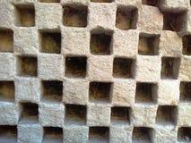 Beschaffenheit, die das quadratische Design alt schnitzt Stockbild