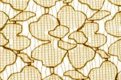 Beschaffenheit, Druck und wale der Gewebezusammenfassung färben Muster gelb Lizenzfreies Stockbild
