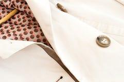 Beschaffenheit - ein Mantel der weißen Frauen Stockbilder