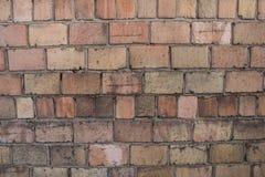 Beschaffenheit einer alten Backsteinmauer Lizenzfreies Stockfoto