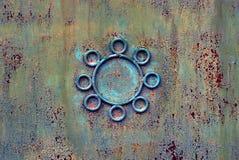 Beschaffenheit einer alten Wand des Eisens mit einem Muster Lizenzfreies Stockfoto