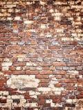 Beschaffenheit einer Backsteinmauer als Hintergrund, Schmutzoberfläche mit einem vin Lizenzfreie Stockfotos
