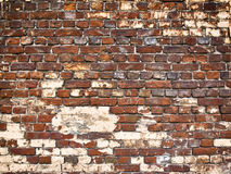 Beschaffenheit einer Backsteinmauer als Hintergrund, Schmutzoberfläche mit einem vin Lizenzfreie Stockfotografie