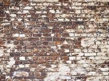 Beschaffenheit einer Backsteinmauer als Hintergrund, Schmutzoberfläche mit einem vin Stockfoto