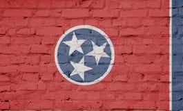 Beschaffenheit einer Flagge von Tennessee stock abbildung