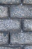 Beschaffenheit einer großen Blocksteinwand Lizenzfreies Stockfoto