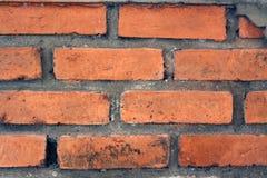 Beschaffenheit einer schmutzigen Backsteinmauer Stockbild
