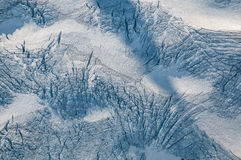 Beschaffenheit eines Gletschers Stockbild