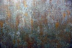 Beschaffenheit eines schmutzigen Stückes farbigen Eisens Lizenzfreie Stockfotografie