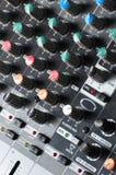 Beschaffenheit eines stichhaltigen Audiomischers Lizenzfreies Stockbild