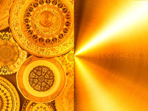 Beschaffenheit, gemaltes Platten Gold Stockbild