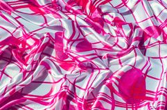 Beschaffenheit, Gewebe, Hintergrund Beschaffenheit eines weiblichen Kleides mit einem a Stockfotografie