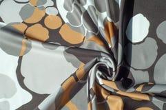 Beschaffenheit, Hintergrund, Muster Abstraktes Muster auf einem Seidengewebe, Lizenzfreies Stockfoto