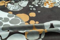 Beschaffenheit, Hintergrund, Muster Abstraktes Muster auf einem Seidengewebe, Lizenzfreie Stockfotografie