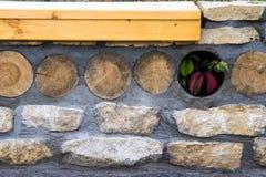 Beschaffenheit, Hintergrund, Muster alte Granitsteine Ein alter Stein w Stockfoto
