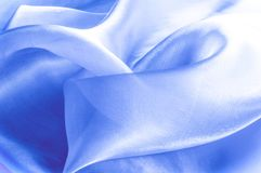 Beschaffenheit, Hintergrund, Muster Blaues silk Gewebe Abstraktes backgro Stockfotos