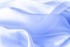 Beschaffenheit, Hintergrund, Muster Blaues silk Gewebe Abstraktes backgro Stockfotografie