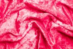 Beschaffenheit, Hintergrund, Muster Samtartige rote Kirsche des Stoffes Addieren Sie luxu stockbilder
