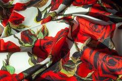 Beschaffenheit, Hintergrund, Muster Stoff-Silk abstraktes Muster Auf Th Stockbild