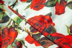 Beschaffenheit, Hintergrund, Muster Stoff-Silk abstraktes Muster Auf Th Stockfoto