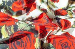 Beschaffenheit, Hintergrund, Muster Stoff-Silk abstraktes Muster Auf Th Lizenzfreie Stockfotos