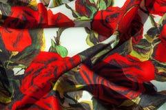 Beschaffenheit, Hintergrund, Muster Stoff-Silk abstraktes Muster Auf Th Lizenzfreies Stockbild